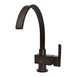 """MR Direct - MR Direct 712 Single Handle Kitchen Faucet, Oil Rubbed Bronze, Oil Rubbed Bronze - The 712 Single Handle Kitchen Faucet has a one or three-hole installation option and is available in a brushed nickel, oil-rubbed bronze or chrome finish. It is a versatile faucet with a 360 degree spout and optional base plate that can be used with a kitchen or bar sink. The dimensions for the 712 are 2 3/8"""" x 13"""" with a 9 1/2"""" spout reach. This faucet is pressure tested to ensure proper working conditions and is covered under a lifetime warranty. With its unique spout design, the 712 is sure to complement any bar or kitchen sink."""