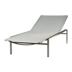 Barlow Tyrie - Barlow Tyrie - Quattro Lounger - Pearl - Made from hardwearing 304 grade stainless steel.  304 grade stainless steel is most commonly used for garden furniture, and is best suited for inland locations.