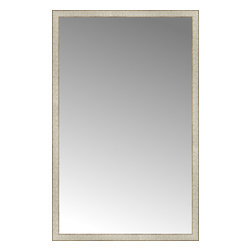 "Posters 2 Prints, LLC - 39"" x 61"" Libretto Antique Silver Custom Framed Mirror - 39"" x 61"" Custom Framed Mirror made by Posters 2 Prints. Standard glass with unrivaled selection of crafted mirror frames.  Protected with category II safety backing to keep glass fragments together should the mirror be accidentally broken.  Safe arrival guaranteed.  Made in the United States of America"