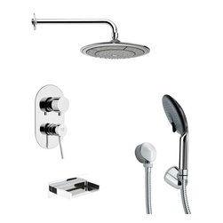 Remer - Tub and Shower Faucet with Multi Function Hand Shower - Multi function tub and shower faucet.