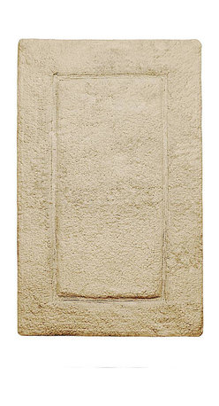 Kassatex - Kassatex Elegance Rug Collection, Desert Sand - When you re-emerge into the world from a luxurious bath or particularly soothing shower, shouldn't you be greeted with gentleness? This bath rug is woven of pure Egyptian cotton, renown for keeping a soft and plush pile for years … so you will never wear out it's warm welcome.