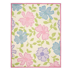 Safavieh - Safavieh Kids Brown/Pink Area Rug SFK376A - 3' x 5' - This hand tufted is made with premium New Zealand wool lending a lush and warm feel that will go great in any child's playarea or bedroom.