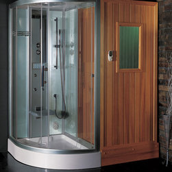Ariel Platinum DS205F3 Steam Shower - The Ariel Platinum DS2053 Steam Shower & Sauna Combo is available for $5090.00 at SteamShowersInc.com and BathroomEtc.com. Shipping is always free! SAVE 10% off, with coupon code SSIHZ10 at SteamShowersInc.com and with coupon code: BREHZ10 on BathroomEtc.com or  Call 1-800-304-3598 to place your order today.