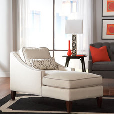 Contemporary Indoor Chaise Lounge Chairs by Libby Langdon Interiors, Inc.