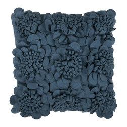"Surya - Surya 18 x 18 Decorative Pillow, Marine Blue (FA074-1818P) - Surya FA074-1818P 18"" x 18"" Decorative Pillow, Marine Blue"