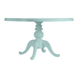 Coastal Living Cottage Round Pedestal Table, Sea Mist - Beautiful sea-blue table, you are perfect for entertaining by the ocean.