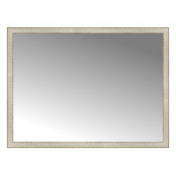 """Posters 2 Prints, LLC - 51"""" x 38"""" Libretto Antique Silver Custom Framed Mirror - 51"""" x 38"""" Custom Framed Mirror made by Posters 2 Prints. Standard glass with unrivaled selection of crafted mirror frames.  Protected with category II safety backing to keep glass fragments together should the mirror be accidentally broken.  Safe arrival guaranteed.  Made in the United States of America"""