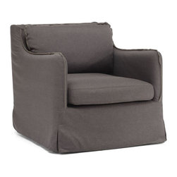 Zuo Modern - Zuo Pacific Heights Armchair in Charcoal Gray - Pacific Heights Armchair in Charcoal Gray by Zuo Modern Our European-inspired take on the classic Sofa in redefines it for a new age. Low to the ground, deep in profile, sleekly streamlined, and overstuffed for casual yet sophisticated appeal, it's a chic, ultra-comfortable twist on tradition. Comes in either beige or charcoal linen fabrics. Armchair (1)