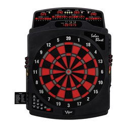 Viper - Viper Solar Blast Electronic Dart Board Multicolor - 42-1021 - Shop for Darts and Dart Boards from Hayneedle.com! The Viper Solar Blast Electronic Dart Board comes with 43 game features and can handle up to 16 players! Easy-to-read LED scoring displays light up this dart board and the Cricket LED display light makes keeping track of the standings a breeze. An 11-button control board puts you in the driver's seat and keeps the action moving from game to game. With up to 163 game options there's something to please everyone. Three skill levels ensure that there will always be a challenge. Tough plastic housing can stand up to errant throws. Features include: 163 game options to keep you and your guests entertained Scoring for up to 16 players Large 4H x 7W inch Cricket LED display Thin tournament spider to prevent bounce-outs Regulation 15.5-inch target face Computer with 3 skill levels Double in/out options Auto player change Voice IC 42 seconds Voice with 3 volume levels Game back button so you don't have to cycle all the way through the menu Bounce-out button for accurate scoring Convenient drawer for extra tips Slide-out game list to help you decide A/C power The all-inclusive Viper Solar Blast Electronic Dart Board set contains everything you need to get your dart party started. Games Include: Count-Up 100-900 Count-Down 301-901 League 301-901 Round the Clock Simple Cricket Standard Cricket Cut Throat Cricket Scram Cricket Shove a Penny Hi-Score>/li> Shoot Out Shanghai Double Down Forty One All Fives Killers Big Six Over Under Football Bowling Golf Baseball Car Racing I Car Racing II About GLD ProductsGLD Products has been manufacturing and distributing well-known family gaming products for over 30 years and is proud to be America's leading innovator of dart billiard tables games and home casino products. GLD is located in Muskego Wis.