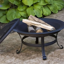 CobraCo Steel Basic Fire Pit with Scroll Legs - Add a social center to your backyard seating area around the CobraCo Steel Basic Pit with Scroll Legs. A deep 29.5-inch firebowl sits in the middle of an all-metal scrollwork frame, all finished with a heat- and weather-proof black powder-coat finish. Each fire pit comes complete with a full-coverage dome spark guard and protective vinyl cover with elastic stretch band.About Woodstream and CobraCoA privately held company with a long-standing positive reputation, Woodstream is a global manufacturer and marketer of quality products from pets and wildlife control, and home and garden products, to bird feeders and garden decor. They have a 150-year history of excellence, growth, and innovation, and have built a strong presence in key markets through organic growth and strategic acquisitions.Most recently, Woodstream acquired CobraCo, which offers an extensive line of planters, baskets, flower boxes, and accessories. The growth of Woodstream is thanks to their customer-driven approach to product development, a dedicated design organization that focuses on innovation, quality, and safety, as well as a commitment to an industry-leading level of service.