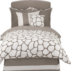 Oilo - Twin Cobblestone Duvet, Taupe - Let the cobblestone path lead straight to your bedroom with this neutral-toned duvet. The classic colors and double-sided pattern create a modern and crisp look and the 300 thread count means you'll be sleeping on the softest of fabrics. You can't go wrong with this chic design. Pillows not included.
