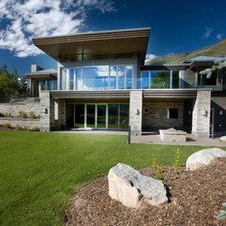 Aluminum Clad Windows and Doors - Luxury Aspen retreat features aluminum clad windows and doors throughout.   Photo credit Mike Hefron.