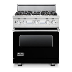 "Viking 30"" Pro-style Dual-fuel Range, Black Liquid Propane 