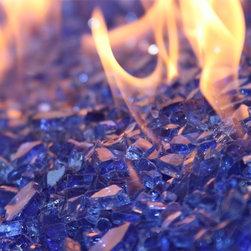 American Fireglass Cobalt Blue | 1/4-in Fire Glass | 1 lb - AFF-COBL American Fireglass 1/4 Inch Cobalt Blue Fire Glass - 1 Lb
