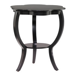 Hammary - Hammary 090-390 Hidden Treasures Black Flower Table - Sleek and clean in design, the Hidden Treasures black flower table - 090-390 is a smart furniture choice for your home. Perfect for a multitude of rooms in your home, the Hidden Treasures flower table - 090-392 features curved legs, a storage shelf underneath, and sweeping contoured lines. The Hidden Treasures black flower table - 090-390 comes in three finishes: red, black, and gray. The Hidden Treasures collection is a fabulous assortment of one-of-a-kind accent pieces inspired by the greatest furniture designs from around the world. Each selection is a true treasure rich in old world icons and traditions. All the pieces in this collection are crafted with attention to every detail.