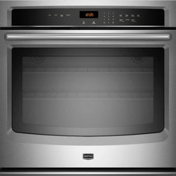 "Maytag - MEW7527AS 27"" Single Electric Wall Oven With 4.3 Cu. Ft. OVen Capacity  Self-Cle - If you39re looking for the perfect wall oven this one is just right With industry-leading 43 cu ft capacity and a 10-year limited parts warranty on the elements this built-in oven is made to last The innovative new FIT system makes replacing your exi..."