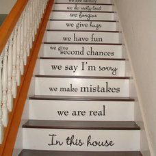 Wall Decals d's save of In this house - STAIR CASE Stairway - Art Wall Decals Wall Stickers