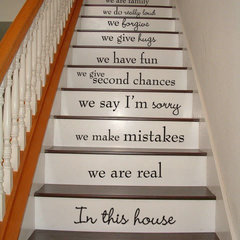 decals d's save of In this house - STAIR CASE Stairway - Art Wall Decals Wall Stickers