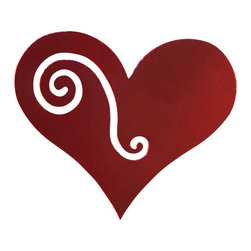 Rustica Ornamentals - Valentine's Day - This Red Heart Ornament (set of 12) will become a beautiful accent piece for any indoor or outdoor decor.