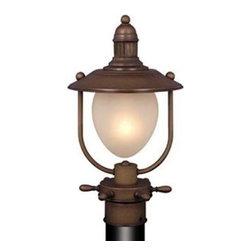 Vaxcel Lighting - Vaxcel Lighting OP25595RC Nautical Traditional Post Lantern Light - For Indoor / Outdoor use.