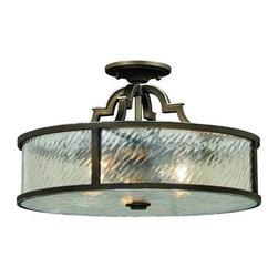 Vaxcel Lighting - Vaxcel Lighting C0030 Simone 3 Light Flush Mount Ceiling Fixture - Features: