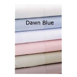Daniadown Quilts - Luxe 600 Dawn Blue Twin Duvet Cover - A true 600 thread count sheet! Only single ply yarn is used so you can expect a tight weave. It is also made of long Egyptian Cotton Fibers to give you unsurpassed softness.  -Thread count: 600�Single Ply  -Material: Egyptian Cotton Sateen  -Care: Machine Washable  -Hidden Zipper Closure  -Duvet cover only; insert not included. Daniadown Quilts - 5106605