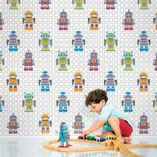 Contemporary Wallpaper by WallCandy Arts
