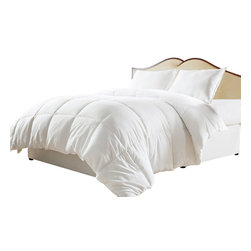 White Down Alternative Comforter/Duvet Cover Insert, White, Queen, Down - The ultimate Luxurious White Down Alternative Comforter allows you to enjoy all the softness and insulating warmth you would expect from goose down without any of the allergens that affect sensitive sleepers.  Use it by itself or for an insert in your favorite duvet cover!  This comforter is backed by the eLuxury Supply 100% money back guarantee!Features