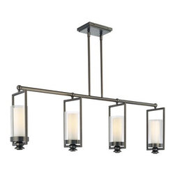 Minka Lavery - Minka Lavery 4364 4 Light 1 Tier Linear Chandelier from the Harvard Ct. Collecti - Four Light Single Tier Linear Chandelier from the Harvard Ct. CollectionFeatures:
