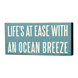 "Box Sign - ""Ocean Breeze"" - The Message: Life's at Ease with an Ocean Breeze"