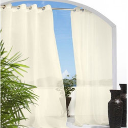 Escape Voile Outdoor Curtain - Sheer curtains provide privacy, shade from the sun and a dreamy extra layer.