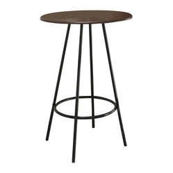 Monarch Specialties 30x30 Bar Table in Cappuccino