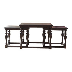 Accents Square Nesting Cocktail Table