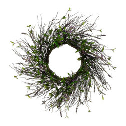 Silk Plants Direct - Silk Plants Direct Lavender Wreath (Pack of 2) - Silk Plants Direct specializes in manufacturing, design and supply of the most life-like, premium quality artificial plants, trees, flowers, arrangements, topiaries and containers for home, office and commercial use. Our Lavender Wreath includes the following: