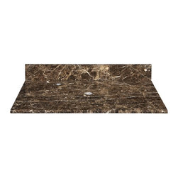 Xylem - Xylem 25W x 22D in. Marble Vanity Top for Vessel Sink - 514802 - Shop for Bathroom Counter Tops from Hayneedle.com! A vessel for true elegance the Xylem 25W x 22D in. Marble Vanity Top for Vessel Sink is the perfect focal point in your well-appointed bathroom. Beautifully crafted of cool classic marble the sleek design is the perfect way to showcase your striking vessel sink. One pre-drilled hole allows for easy drain installation. Available in your choice of color. Sink and faucet not included.About XylemDesigning assorted and diverse groups of bathroom vanities faucets mirrors and sinks in classic and contemporary styles sets Xylem apart from the competition. With a huge selection to choose from they are able to present chic bathroom styles that are both fashionable and functional. Creating original products and designs with quality craftsmanship the people at Xylem are inclined to offer exclusive bath furniture fixtures countertops and fittings to their customers at an affordable price while providing outstanding customer care.