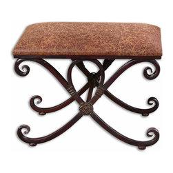 Uttermost - Uttermost 26122 Manoj Distressed Small Bench - Uttermost 26122 Manoj Distressed Small Bench