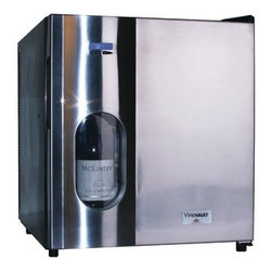 PRESERVINO - PRESERVINO PVV-20 16-Bottle VinoVault Professional(TM) Wine Cellar - � 16-bottle capacity;� Preserves unopened & opened bottles of wine;� European styling;� Green cooling�heat pipe technology is 10x more effective than standard wine cellars with ultraquiet operation;� Illuminates & displays 1 bottle in the window;� Cool blue LED showcases bottle;� Wood slide-out shelves;� Stainless Steel