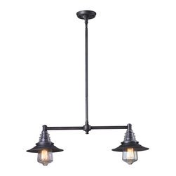 Elk Lighting - Elk Lighting 66830-2 Billiard/Island - Elk Lighting 66830-2 Billiard/Island