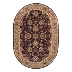 None - Hand-tufted Casa Plum Wool Rug (6' x 9') - Liven up wooden floors with this traditionally styled purple hand-tufted wool rug. Rich and lush colors including purple,sage,gold,red,and dark green make up the exquisite pattern. The pile stands at .625 inches and is easy to maintain.