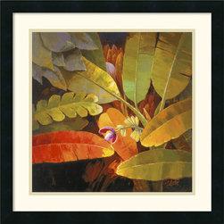 None - Jung K. An 'Tropical Leaves II' Framed Art Print - Artist: Jung K. AnTitle: Tropical Leaves IIProduct type: Framed art print