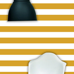 "the lovely wall co - 24"" x 48"" Nautical Stripe Removable wall paper tile - Wall Paper, Mustard - NAUTICAL STRIPE wall paper tile"
