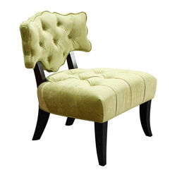 """Armen Living - 364 Diva Arm Chair Sage Green in Green - This is a unique item, custom designed for Armen Living. A substantial piece sure to make a high-end statement in the modern home. 16"""" Seat height"""