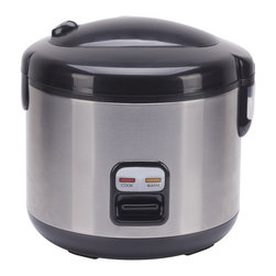 Sunpentown - Rice Cooker with Stainless Body, 6-Cup - Cook various dishes with this rice cooker. You can steam rice, porridge, soup, stew and much more. Features one-touch operation and convenient carrying handle. Automatically switches to WARM mode.