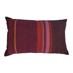Pink, Orange and Purple Striped Pillow - $275 Est. Retail - $100 on Chairish.com -