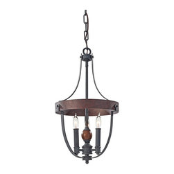 "Feiss - Iron Feiss Alston 12"" Wide Rustic Industrial Chandelier - The Alston collection has rich dual-finish fixtures that evoke a certain rustic - industrial charm. This small three light chandelier comes in a handsome antique forged iron finish with a charcoal brick acorn finish circular band and spherical accent. Design by Murray Feiss. From the Alston collection. Antique forged iron and charcoal brick acorn finishes. Rustic industrial chandelier design. Takes three maximum 60 watt candelabra bulbs (not included). Includes 5 feet of Chan 15 feet of lead wire. 21 1/4"" high. 12"" wide. Overall 86"" maximum hanging height. Canopy is 6"" wide. Hang weight 7 3/4 lbs.  A Feiss chandelier design.  From the Alston collection.  Antique forged iron and charcoal brick acorn finishes.  Rustic industrial chandelier design.  Takes three maximum 60 watt candelabra bulbs (not included).  Includes 5 feet of Chan 15 feet of lead wire.  21 1/4"" high.  12"" wide.  Overall 86"" maximum hanging height.  Canopy is 6"" wide.  Hang weight 7 3/4 lbs."