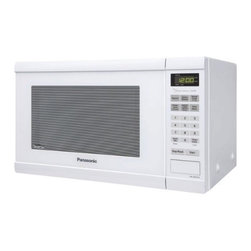 Panasonic Consumer - 1.2 Cu.Ft Microwave Family White - The Genius Collection 1.2 Cubic Foot Family-Size Microwave Oven with 1200 Watts Cooking Power