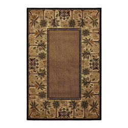Mohawk - Country & Floral Courtyard Palms 8'x11' Rectangle Beige-Amber Area Rug - The Courtyard Palms area rug Collection offers an affordable assortment of Country & Floral stylings. Courtyard Palms features a blend of natural Beige-Amber color. Machine Made of Polypropylene the Courtyard Palms Collection is an intriguing compliment to any decor.