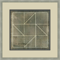"""Mantle Art Company - Vision Studio """"Geometric Blueprint IV"""" fine art print - Beautiful modern art custom framed by designers to bring out the best in this piece of art. Made in the USA"""