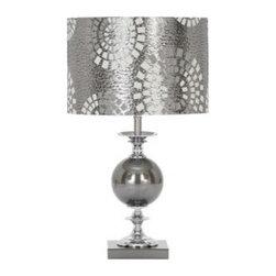 """Benzara - Designers Lamps - Metal Glass Table Lamp 22""""H - Designers Lamps - Metal Glass Table Lamp 22""""H."""
