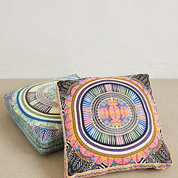 Mara Hoffman Floor Pillow - When in doubt, a pile of pillows makes any space feel relaxed. I love these colors; they transport me on a tropical getaway.